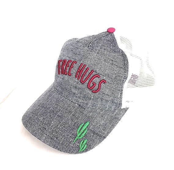 c6396e2ebd1b0 No Boundaries Womens Free Hugs Snapback Hat with Woven Front Panel ...