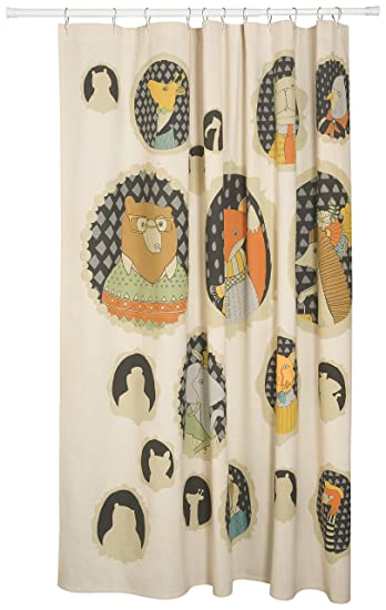 Shower Curtains cotton shower curtains : Amazon.com: Danica Studio Cotton Shower Curtain, Cameo Animal ...