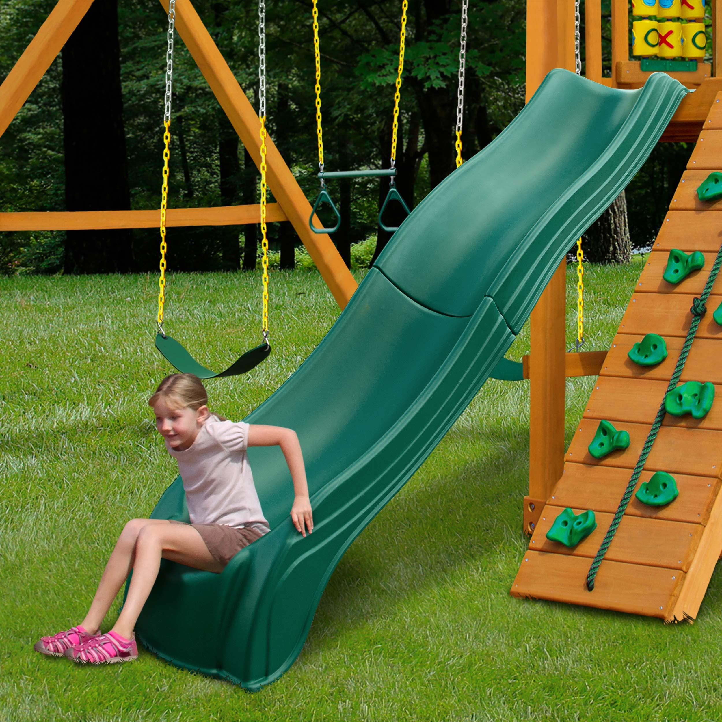 Swing-N-Slide WS 5033 Olympus Wave Slide Plastic Slide for 5' Decks, Green by Swing-N-Slide (Image #3)