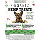 Organic Hemp Advance Treats for Dogs, Natural Calming Aid, Anxiety Relief, Separation and More, Made in USA, 60 Soft Hemp Che