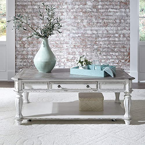 Liberty Furniture Industries Magnolia Manor Rectangular Cocktail Table, W52 x D30 x H20, White