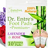 Dr. Entre's Detox Foot Pads: Organic Patches All Natural Formula for Impurity Removal, Pain Relief, Sleep Aid, Relaxation | A