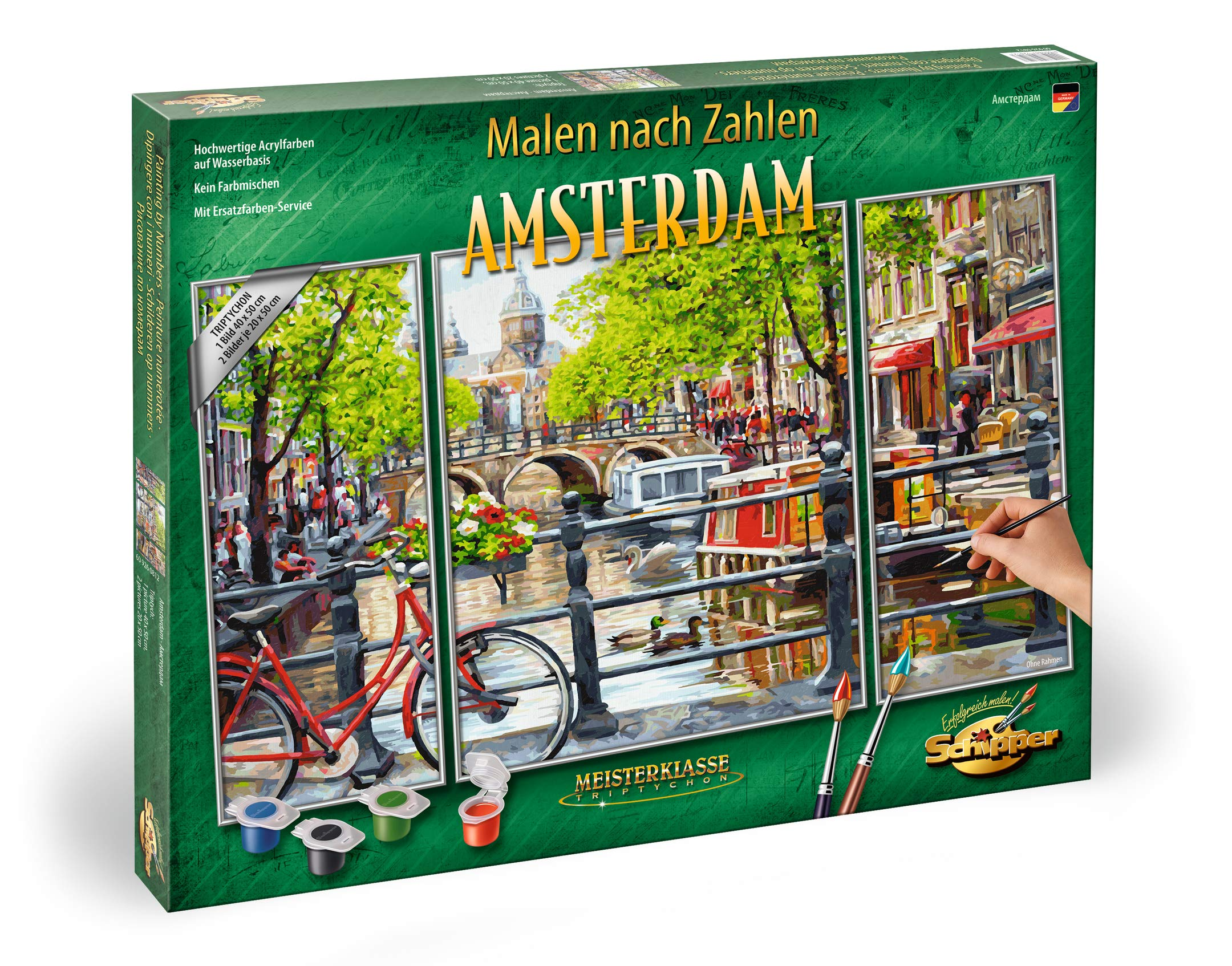 Schipper 609260812 Paint by Numbers Amsterdam Triptych 50 x 80 cm by Schipper