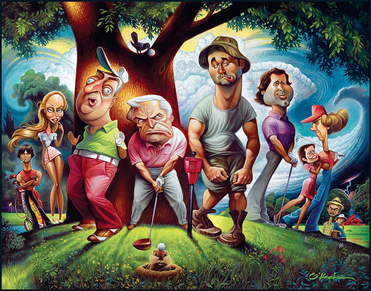 "A Tribute To Caddyshack Fine Art Print 22/"" by 28/"" By Artist David O/'keefe"