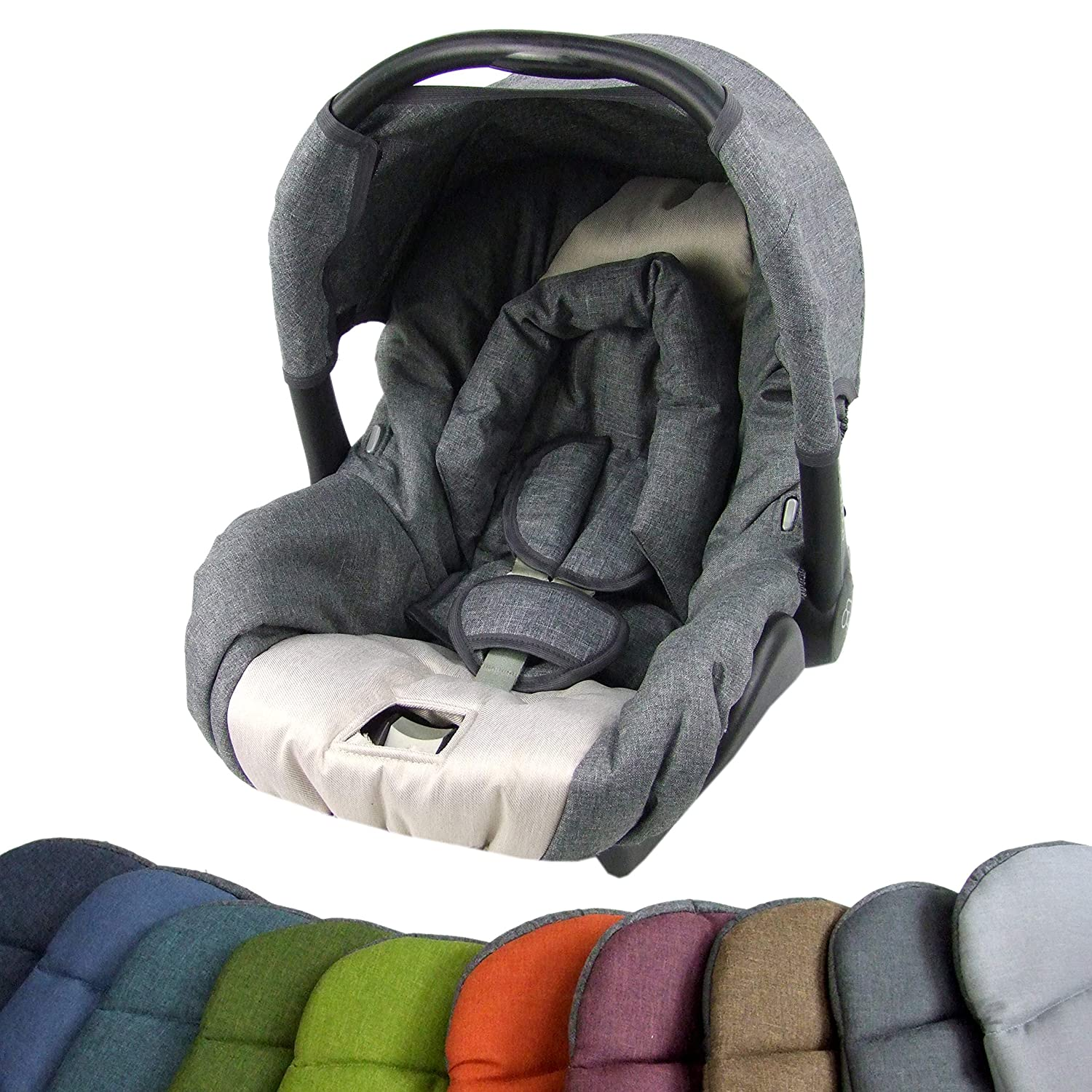 Bambiniwelt Replacement Cover For Maxi Cosi Citi Sps 6 Piece Cover For Baby Car Seat Complete Set Grey Beige Xx Baby
