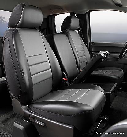 Black Fia SP87-36 BLACK Custom Fit Front Seat Cover Split Seat 40//20//40 Poly-Cotton,