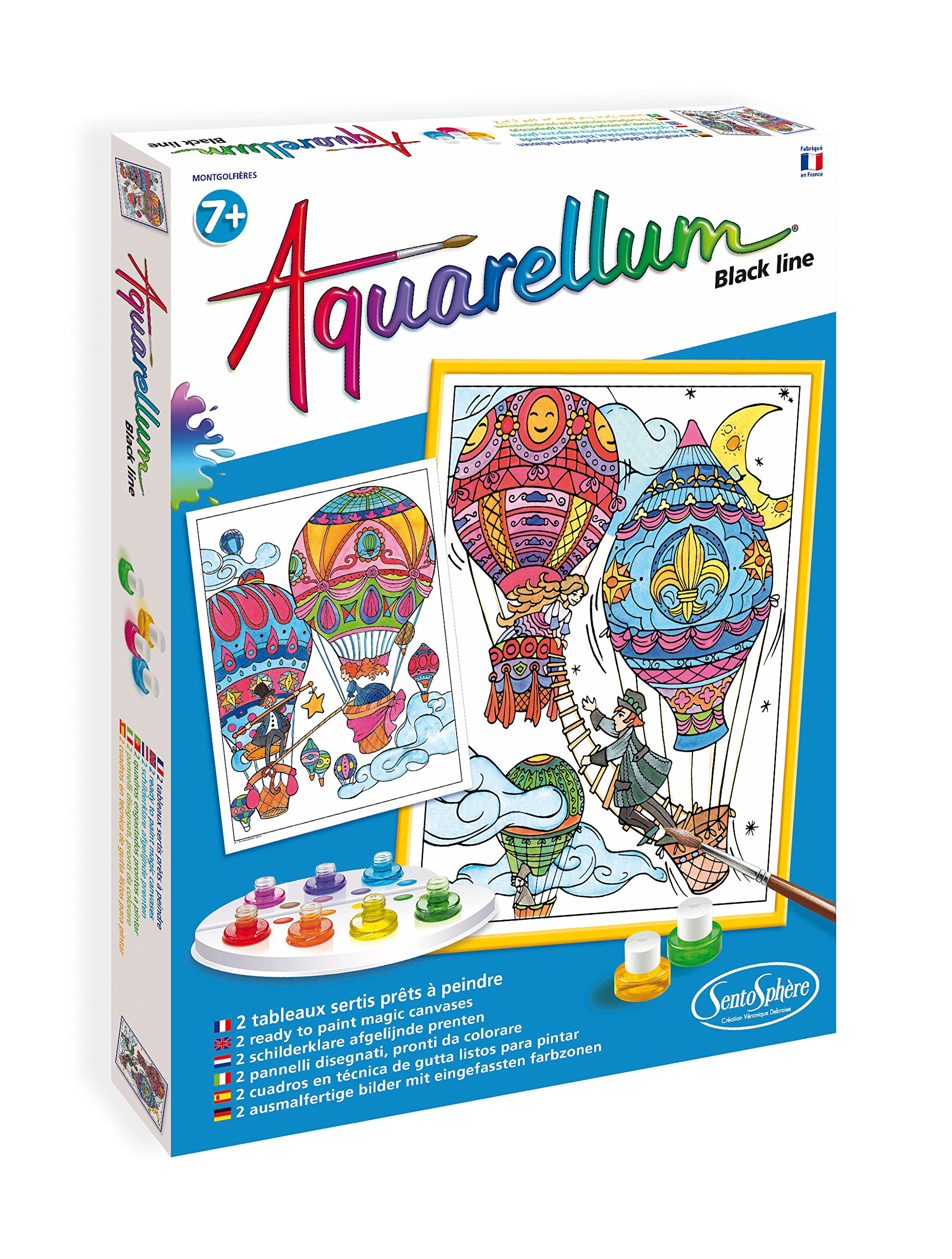 Sentosphère-SENTOSPHERE Aquarellum-610-Leisure Creatif Black Line: Balloons by Sentosphère