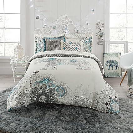 Amazon Com Anthology 7 Piece Full Comforter Set Kiran Elephant