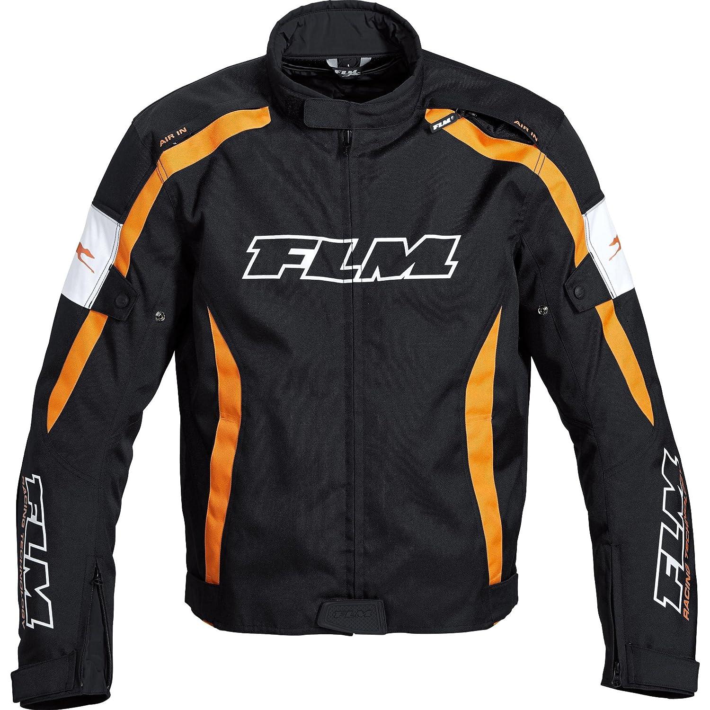 FLM Chaqueta de Moto, Deportes Textil Chaqueta 1.0 Naranja ...