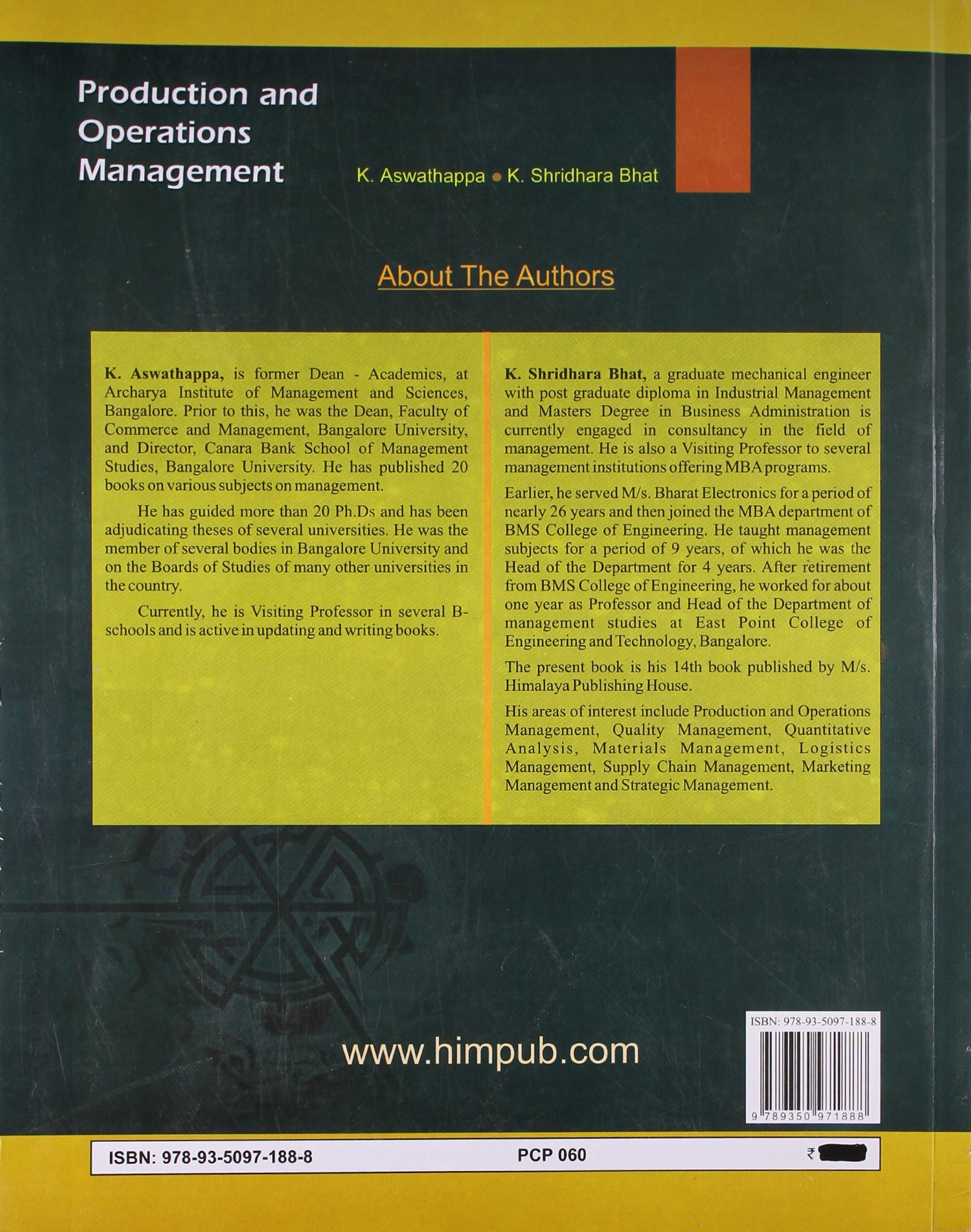 PRODUCTION AND OPERATIONS MANAGEMENT - R. PANNEERSELVAM - Google Books