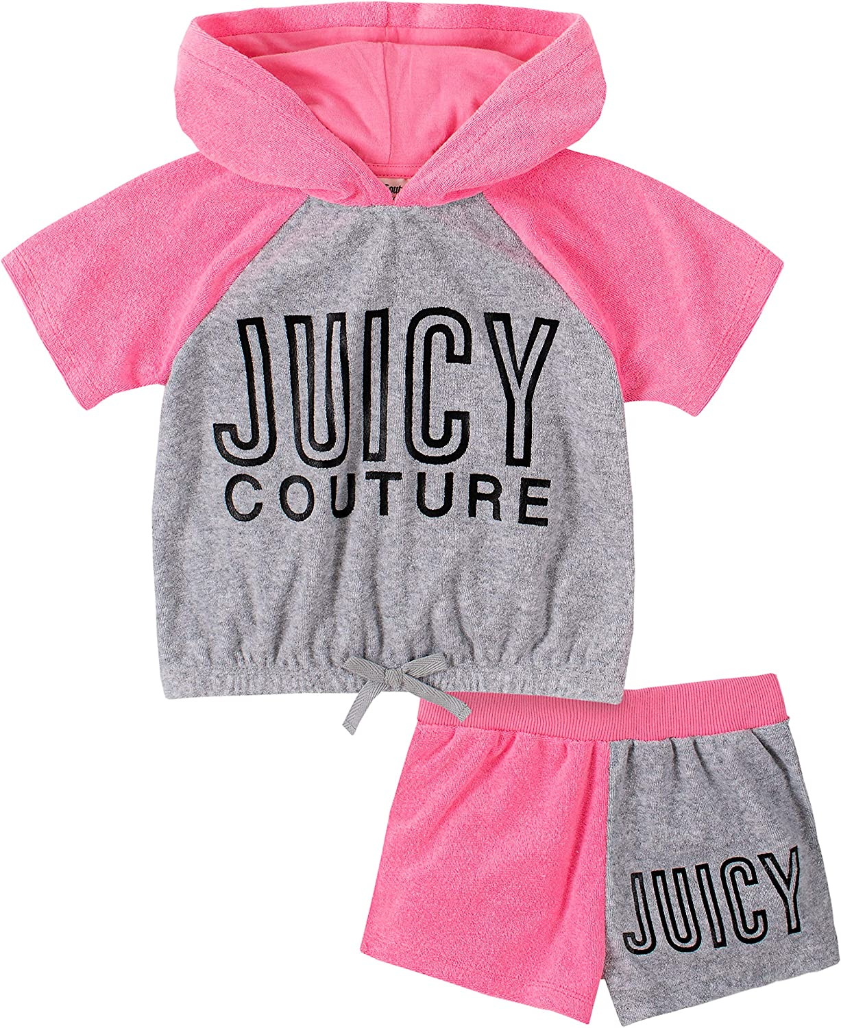 Juicy Couture Baby Girls' 2 Pieces Hoody Shorts Set