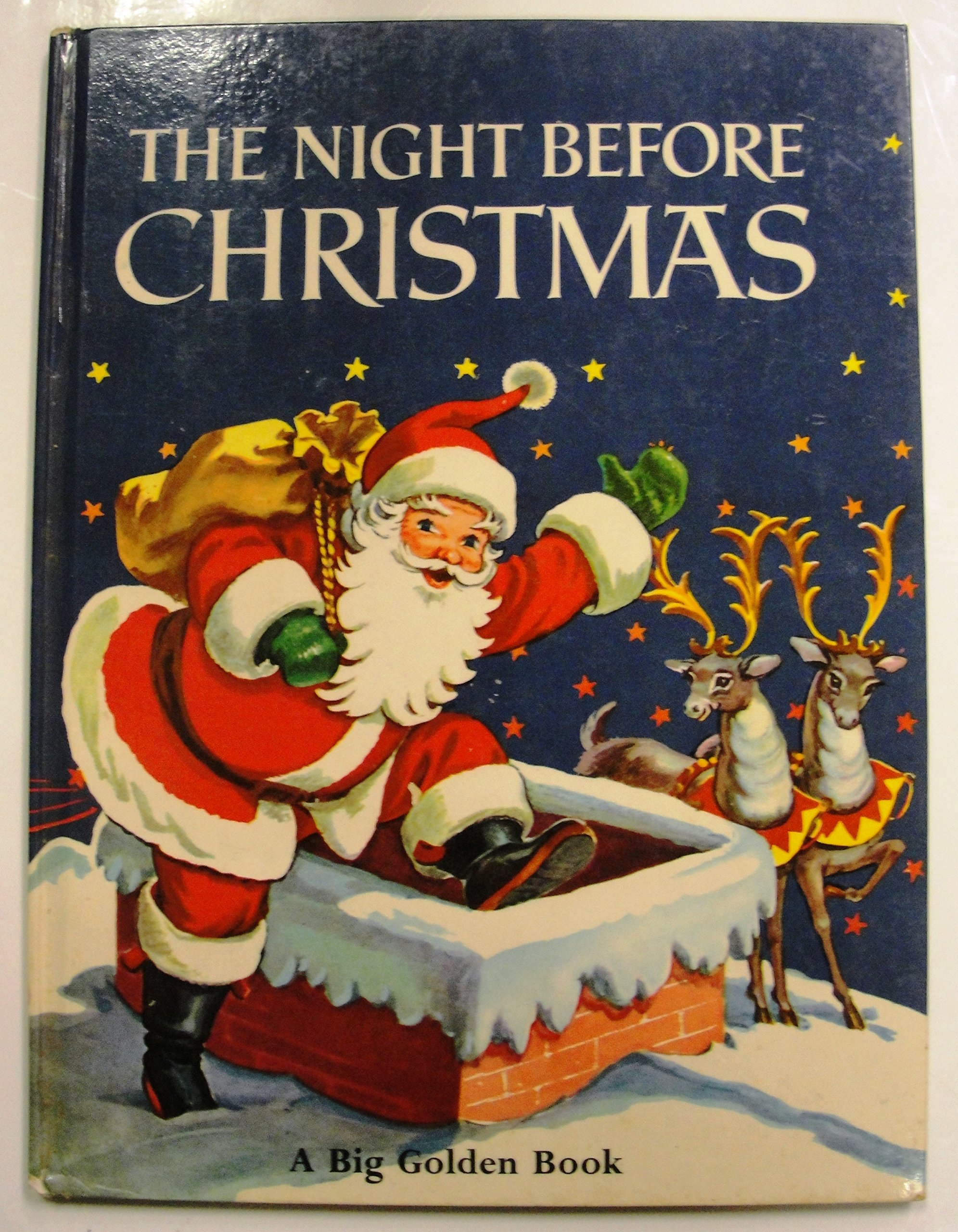 the night before christmas big golden book clement clarke moore amazoncom books - Night Before Christmas Book