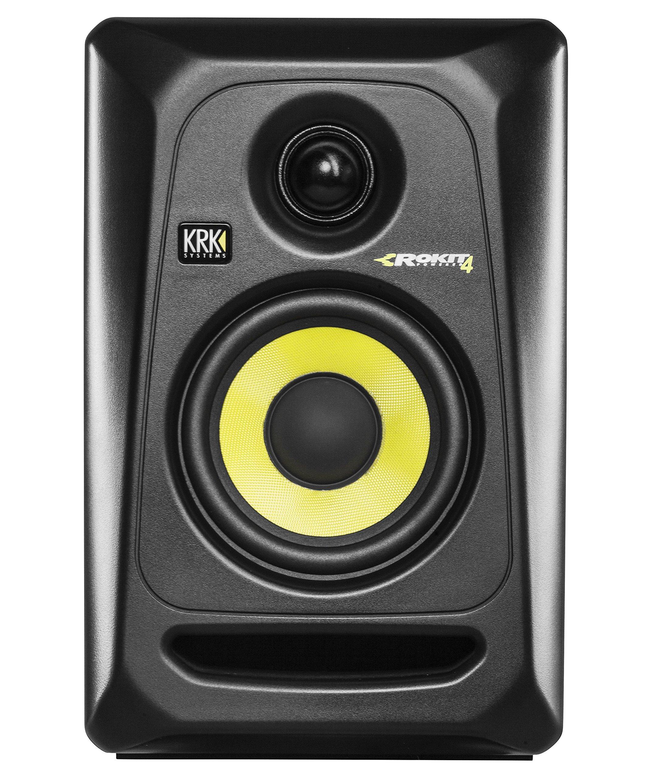 KRK RP4G3 ROKIT 4 G3 4'' 2-Way Powered Studio Monitor, Black