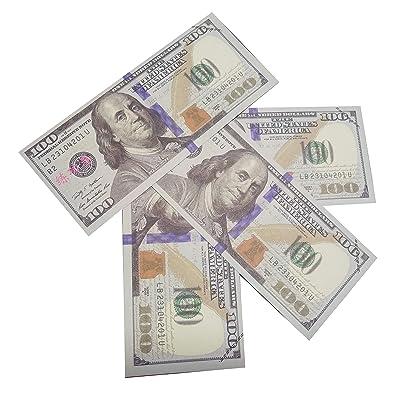 Letit Copy Money 100 Dollar Bills Prop Money Full Print Toy Play