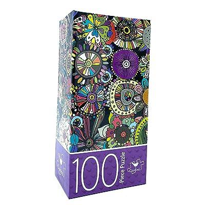 Floral Doodles 100 Piece Jigsaw Puzzle: Toys & Games