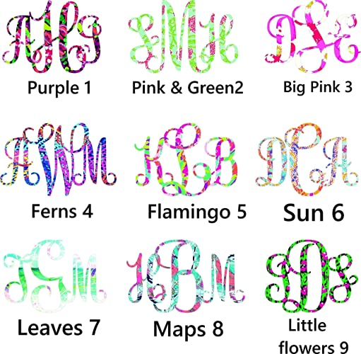 Amazoncom Tall Monogram Decal More Prints Fire And Ice - Monogram car decal amazon