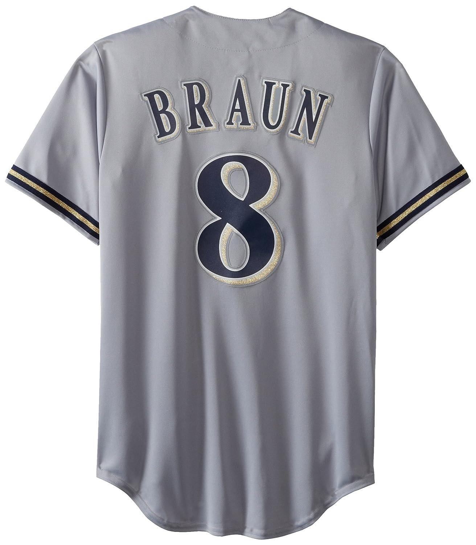 MLB Milwaukee Brewers Ryan Joseph Braun Baseball Jersey Spring 2012 Men's