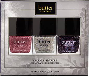 Butter London Holiday Lacquer Sparkle Collection Trio Set 1 Amazon Co Uk Luxury Beauty