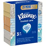"""Kleenex, Trusted Care Tissues, 2 Ply - 8.20"""" x 8.40"""" - White - Soft, Strong, Absorbent, Durable, Pre-Moistened - 144…"""
