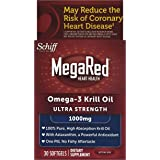 MegaRed 1000mg Ultra Strength Omega-3 Krill Oil, 30 softgels