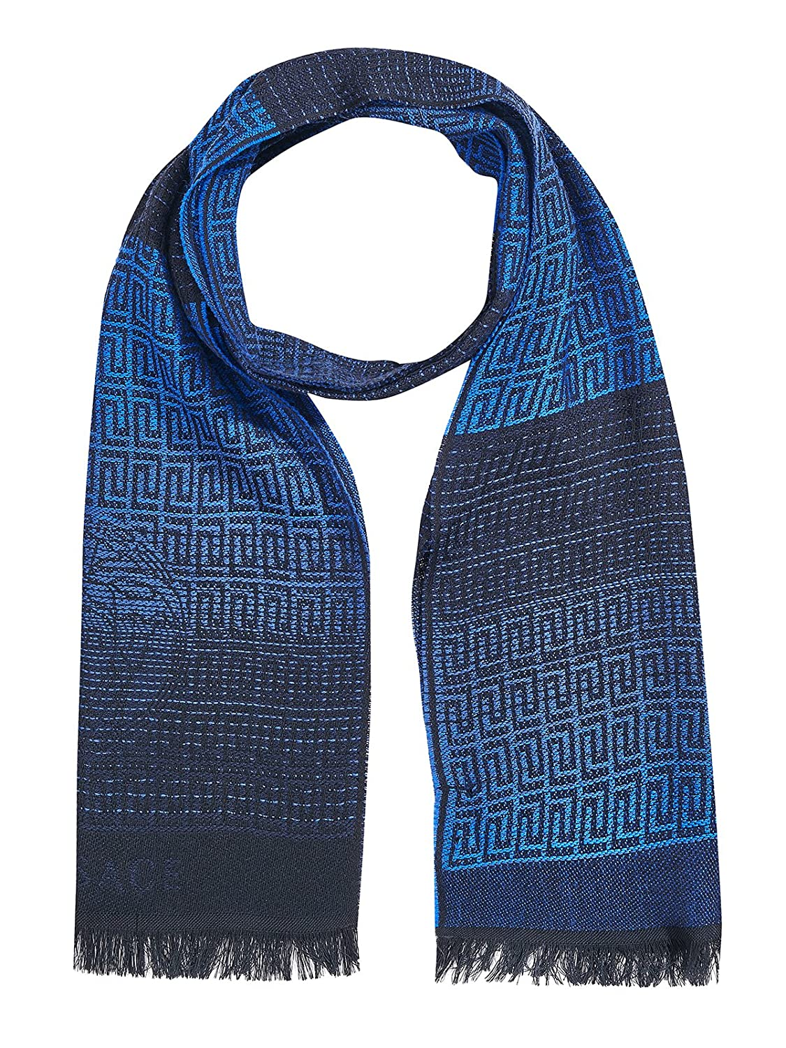 Versace Collection Blue Medusa Ombre Scarf