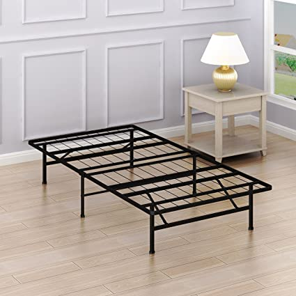Simple Houseware 14 Inch Twin Size Mattress Foundation Platform Bed Frame,  Twin