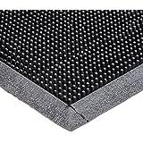 "Durable Corporation-396S3672 Heavy Duty Rubber Fingertip Outdoor Entrance Mat, 36"" x 72"", Black"