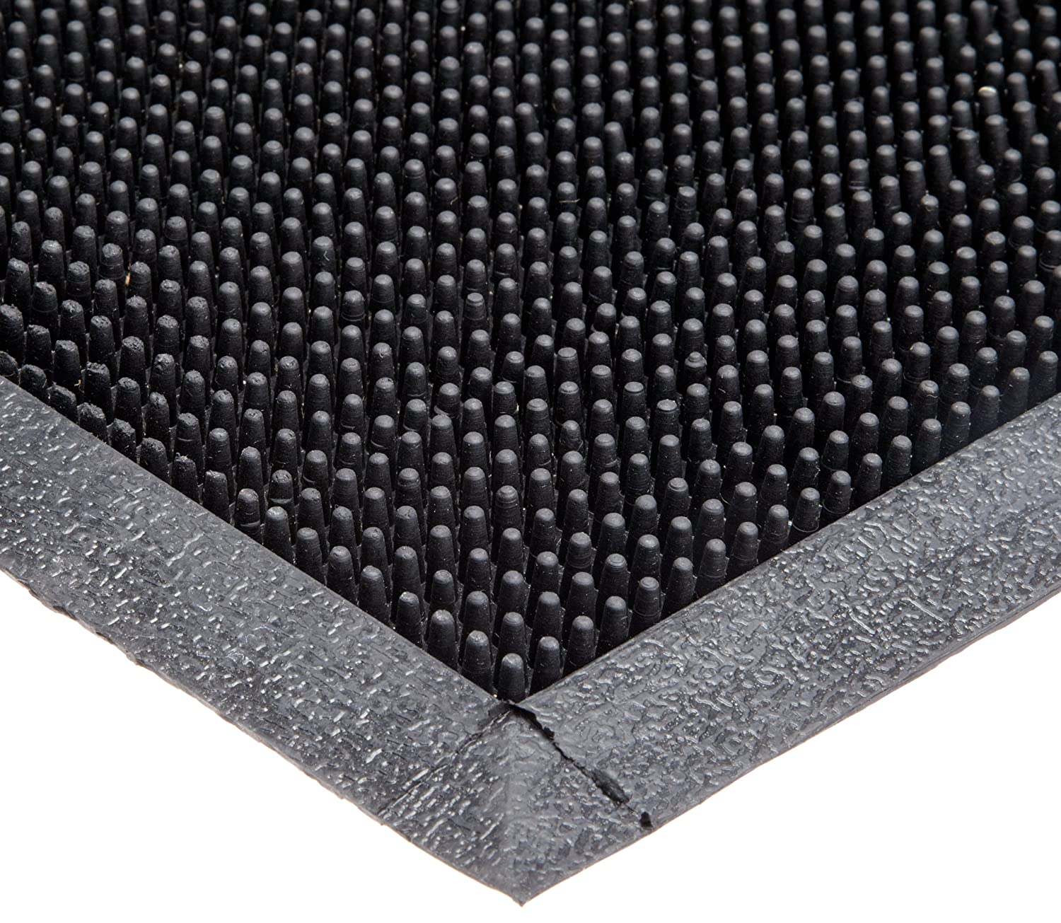 "Durable Heavy Duty Rubber Fingertip Outdoor Entrance Mat, 32"" x 39"", Black 32"" x 39"" Durable Corporation 396S3239BK"