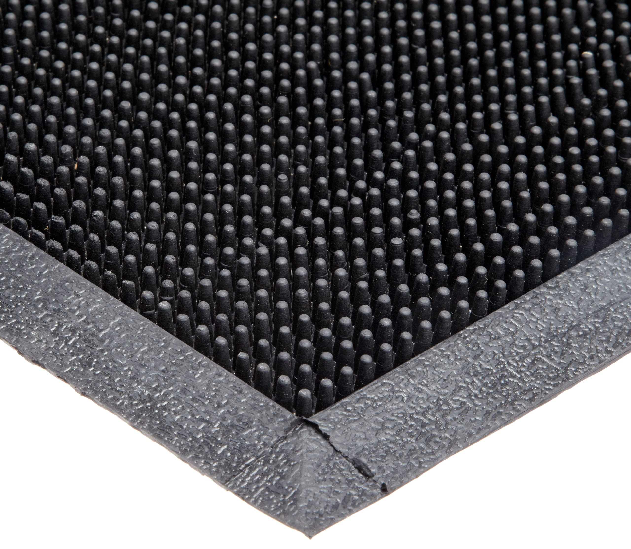 Durable Corporation 396S2432BK Heavy Duty Rubber Fingertip Entrance Mat, for Outdoor Areas, 24'' Width x 32'' Length x 5/8'' Thickness, Black