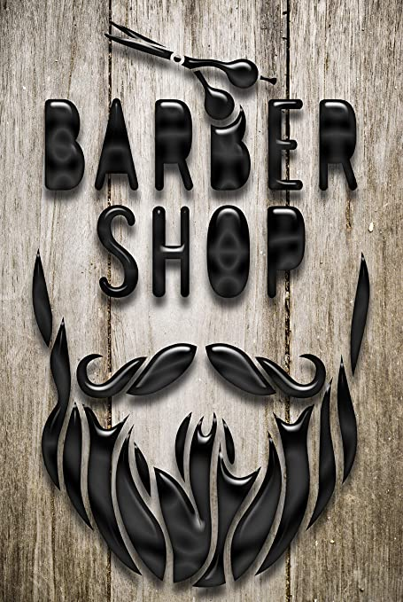 Barber Shop 1072 - Cartel de Metal, diseño de barbero ...