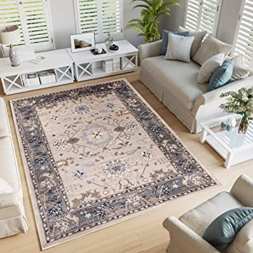 Tapiso Colorado Teppich Wohnzimmer Kurzflor Klassisch Orientalisch Beige  Grau Floral Ziegler Ornament Muster Orientteppich ÖKOTEX 250 x 350 cm