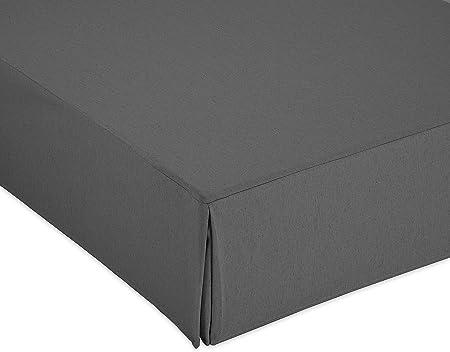 Cardenal Textil Liso Cubre Canape, Gris, Cama 90