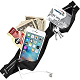 Running Belt, UShake Fanny Pack iPhone 6 7Plus 8 X Pouch for Runners Best Fitness Gear for Bounce Free Hands Free Workout Reflective Waist Pack
