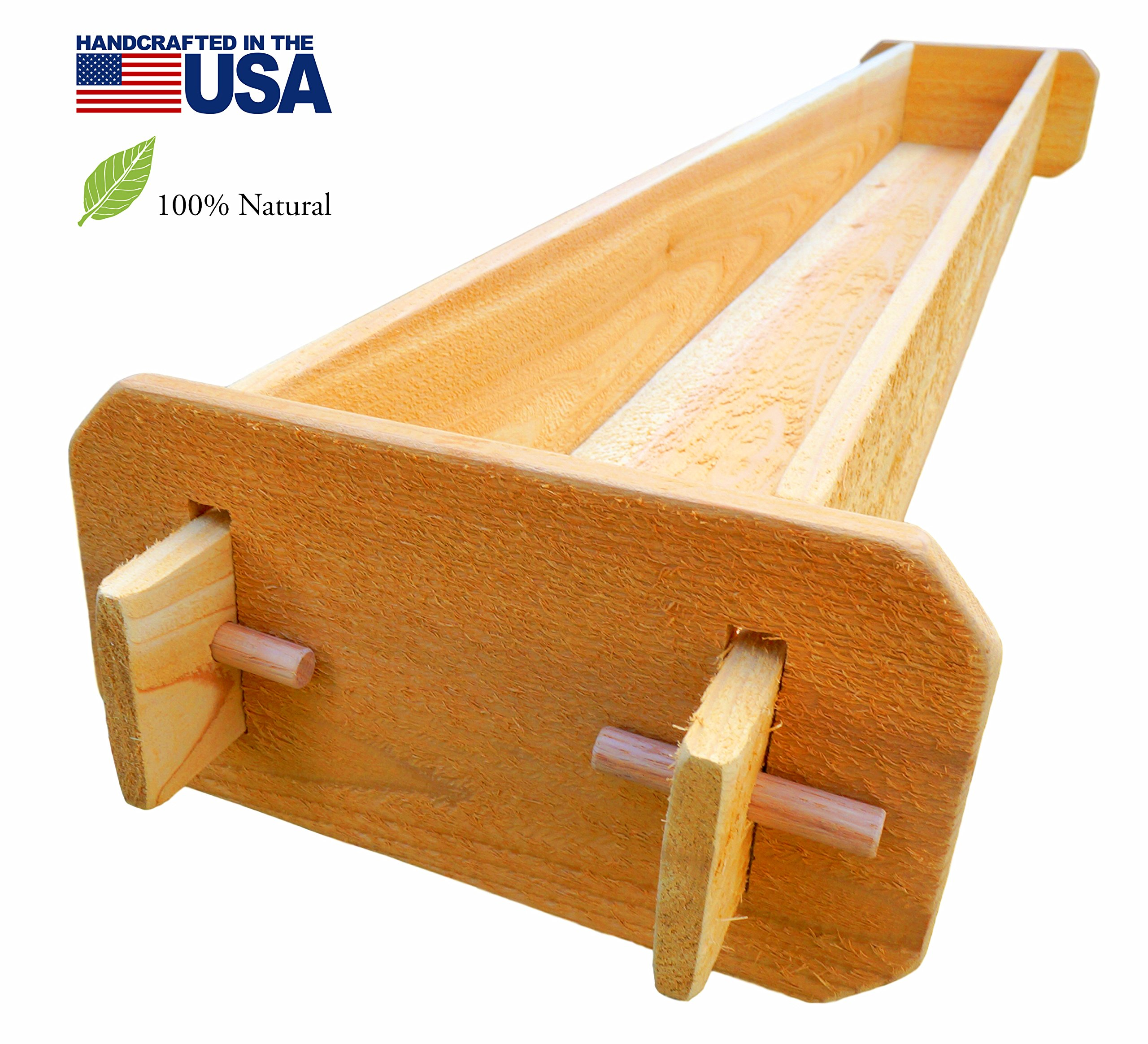 Timberlane Gardens Long Outdoor Rectangular Planter Box Kit Deck Patio Balcony Western Red Cedar with Mortise and Tenon Joinery