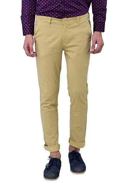 replicas best enjoy clearance price Thread Swag Men's Printed Casual Trousers (Chinos) - Beige Color