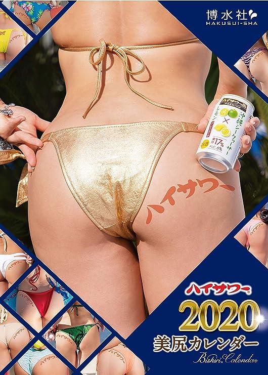【2020年度】プレミアム13枚綴り ハイサワー 美尻 カレンダー 2020 選ばれた12の美尻 大判A2サイズ 60×42㎝