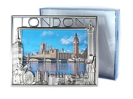 Amazon.com - Small Metal Photo Frame (9.0 cm x 7.5 cm, Nickel Effect ...