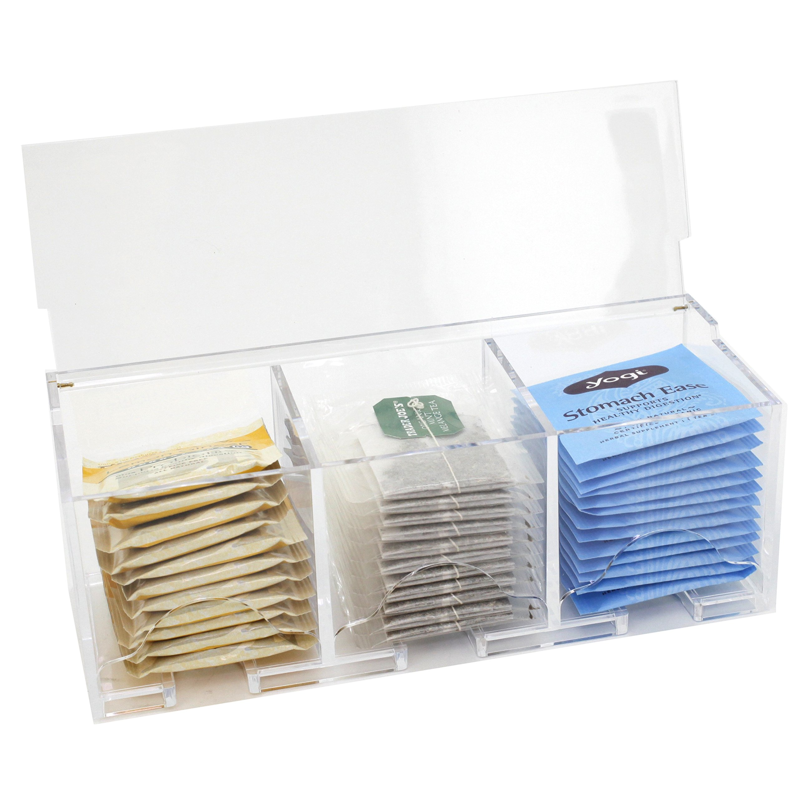 Paylak CNT395 Tea Box Contemporary Compact Acrylic Holder Tea Bags