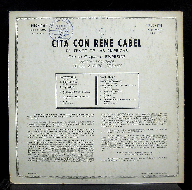 Adolfo Guzman - Adolfo Guzman Cita Con Rene Cabel vinyl record - Amazon.com Music