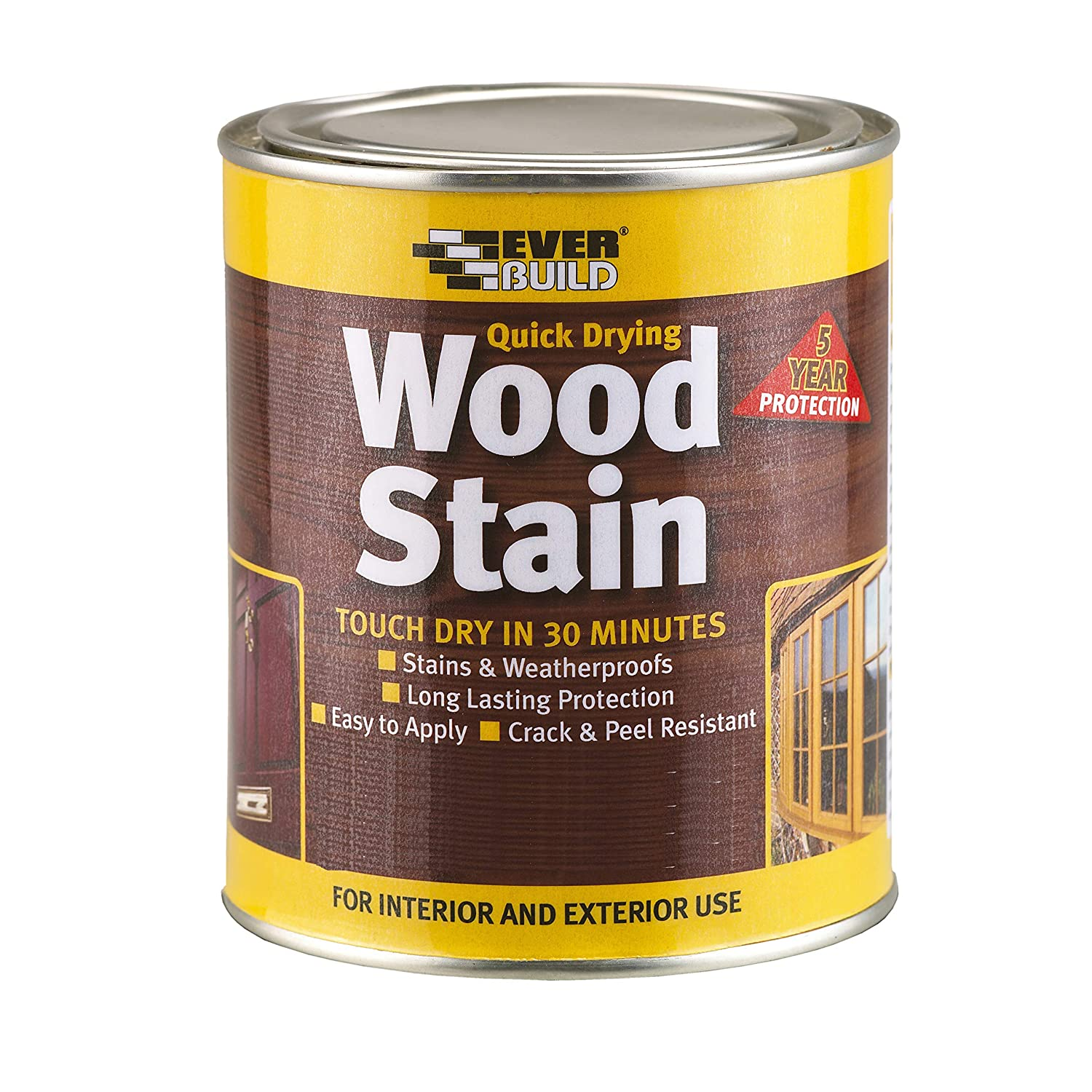Everbuild Evbwswn250 Quick Dry Wood Stain Satin Walnut 250 Ml