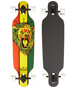 Krown Rasta Freestyle Elite Complete Longboard, 9.25x36 Inch