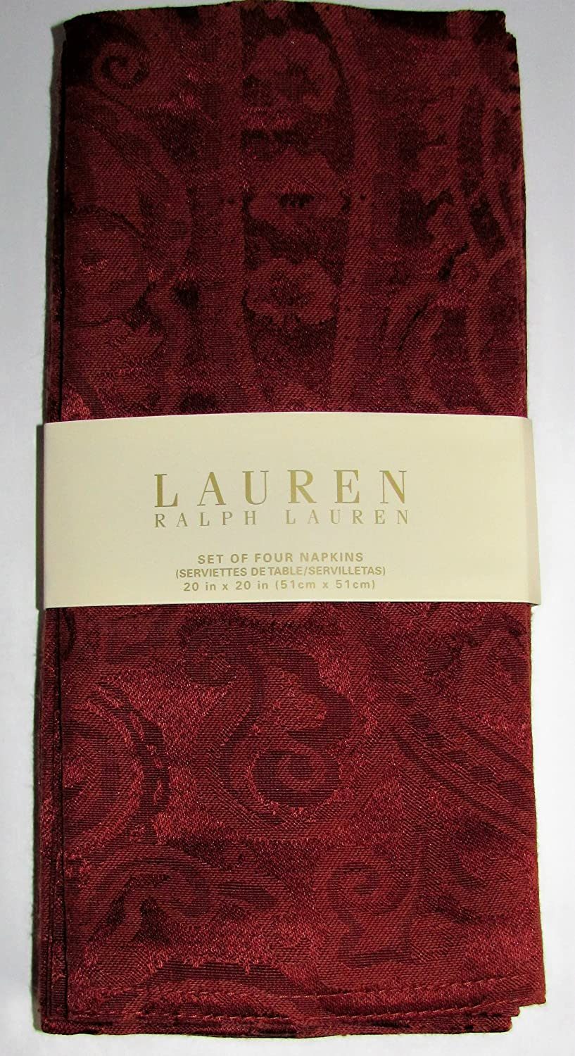 Ralph Lauren Table Linens Part - 19: Amazon.com: Lauren Ralph Lauren Paisley Rust Jacquard Table Linens /  Napkins 20 X 20 Inches Set Of 4 Dinner Napkins Holiday Fall: Home U0026 Kitchen