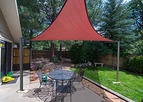 SUNLAX 16 5 x 16 5 x 16 5 Triangle Sun Shade Sail Terra Color UV Resistant for Outdoor Patio Lawn Garden Activities