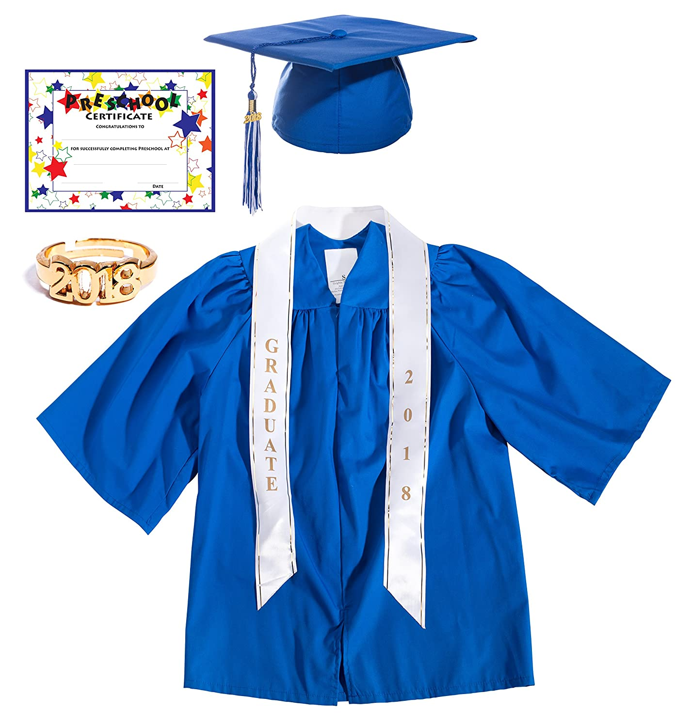 Amazon.com: Preschool Graduation Cap, Gown, Tassel, Sash, Ring ...