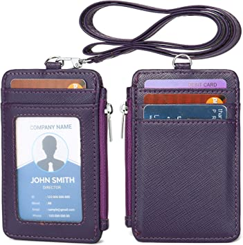 ID CARD HOLDER//LANYARD NECK STRAP PU LEATHER BUSINESS CARD CASE//COVER