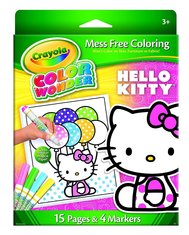 Crayola Crayon Wonder Hello Kitty 18 Page Coloring Pad and 5 Count Marker