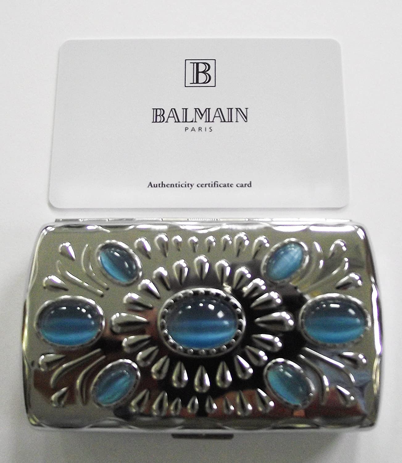 Balmain Paris - Funda para Cigarrillos, Color Plateado: Amazon.es: Equipaje