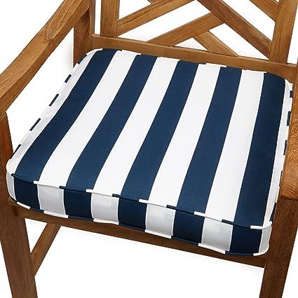 Amazon Com Mozaic Sabrina Corded Indoor Outdoor Chair Cushion 19