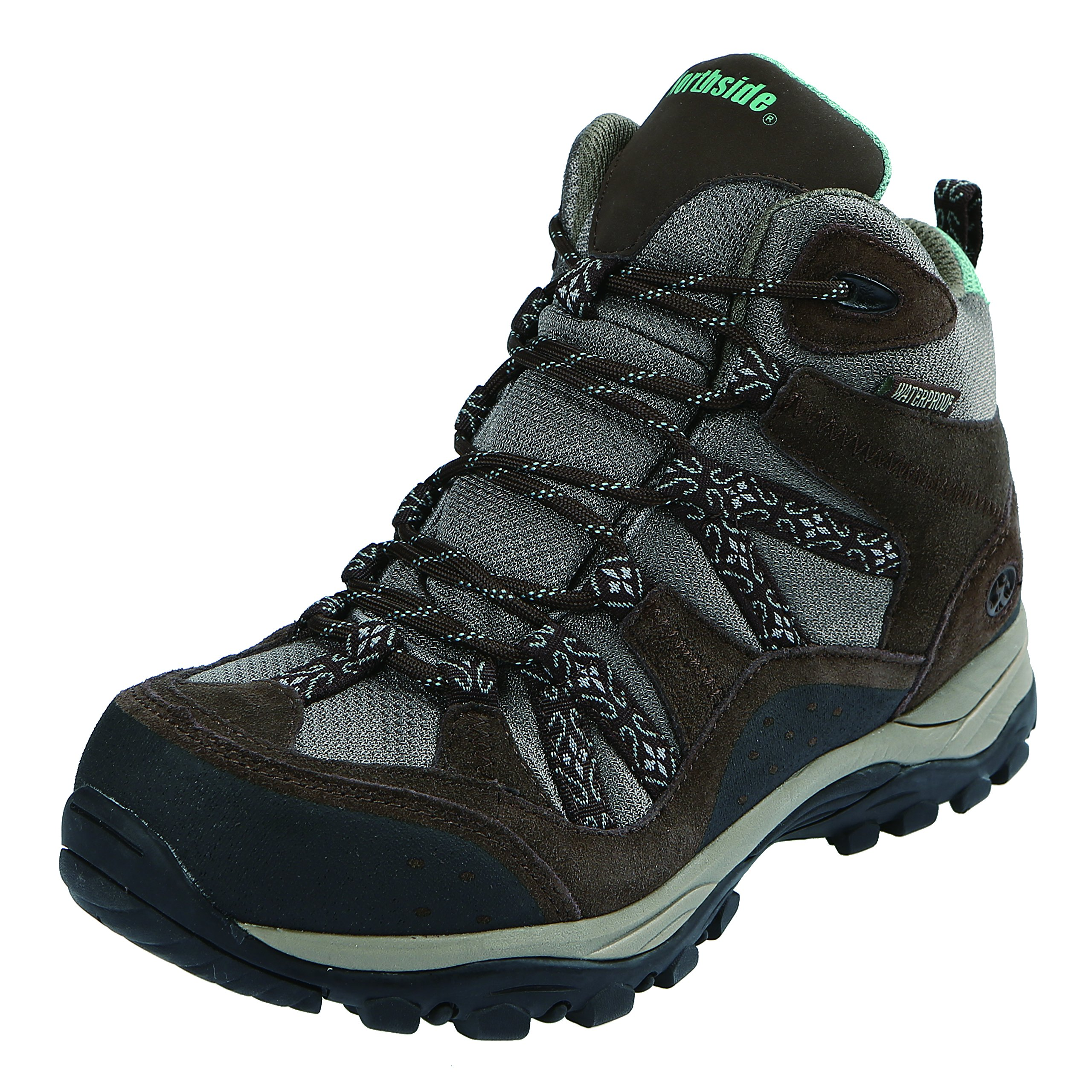 Northside Women's Freemont Waterproof Hiking Boot, Dark Brown/Sage, 8 M US by Northside