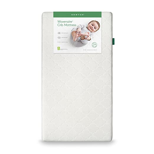 Newton Wovenaire Crib Mattress- 100% breathable design proven to reduce suffocation risk. Beyond organic- fully washable, UL Greenguard Gold Certified lowest VOC's, non-toxic and hypoallergenic. White